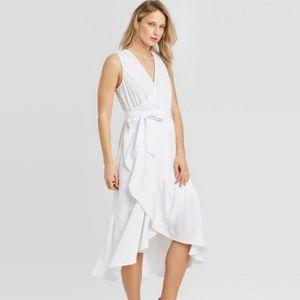 NWOT (XL) Women's Wrap Ruffle Dress